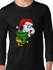 Santa Snoopy Beautiful christmas Long Sleeve T-Shirt