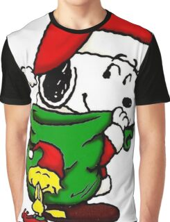 Santa Snoopy Beautiful christmas Graphic T-Shirt