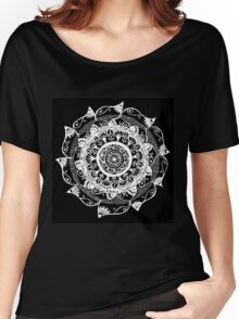 White & Black Women's Relaxed Fit T-Shirt