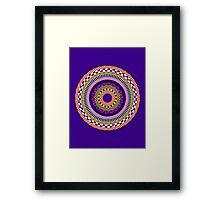 Funky Mandala Framed Print
