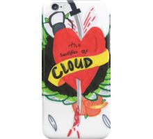Heart Stabbed - Final Fantasy VII The Sacrifice Of Cloud - Name Banner 'CLOUD' iPhone Case/Skin