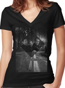Supernatural - Crowley Women's Fitted V-Neck T-Shirt