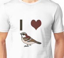 I heart sparrows Unisex T-Shirt