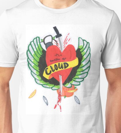 Heart Stabbed - Final Fantasy VII The Sacrifice Of Cloud - Name Banner 'CLOUD' Unisex T-Shirt