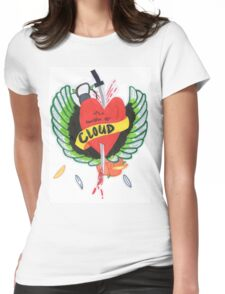 Heart Stabbed - Final Fantasy VII The Sacrifice Of Cloud - Name Banner 'CLOUD' Womens Fitted T-Shirt