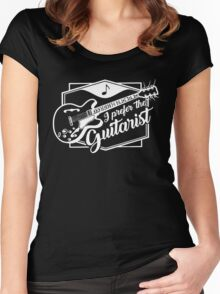 I Prefer The Guitarist Funny Women's Fitted Scoop T-Shirt