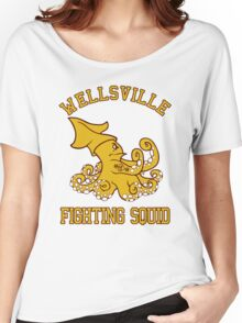 Wellsville Fighting Squid (Pete and Pete/Notre Dame parody) Women's Relaxed Fit T-Shirt