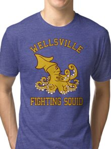 Wellsville Fighting Squid (Pete and Pete/Notre Dame parody) Tri-blend T-Shirt