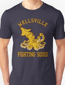 Wellsville Fighting Squid (Pete and Pete/Notre Dame parody) Unisex T-Shirt