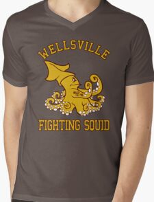 Wellsville Fighting Squid (Pete and Pete/Notre Dame parody) Mens V-Neck T-Shirt