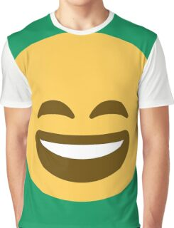 Smiling face with open mouth and smiling eyes Graphic T-Shirt