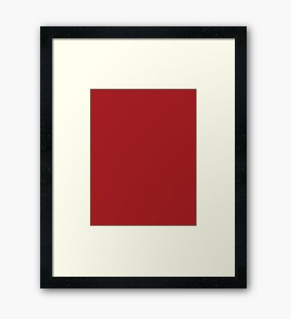 Warm Red - Christmas Limited Edition Framed Print
