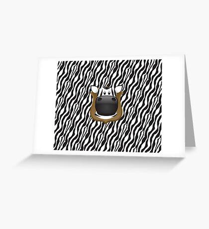 Zoo animals wildlife - Zebra Greeting Card