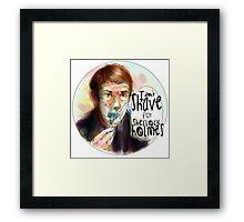 Shave for Sherlock (paint) Framed Print