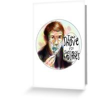 Shave for Sherlock (paint) Greeting Card
