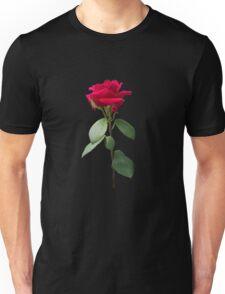 Single red rose Unisex T-Shirt