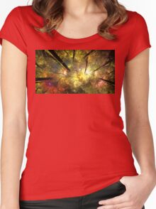 Floral Sun Dream Women's Fitted Scoop T-Shirt