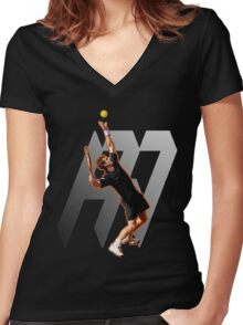 Andy Murray #1 on top of the world Women's Fitted V-Neck T-Shirt