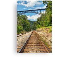 Railroad and Big Bridge Canvas Print