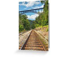 Railroad and Big Bridge Greeting Card