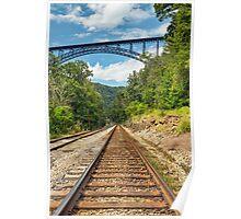 Railroad and Big Bridge Poster