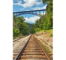 Railroad and Big Bridge Photographic Print