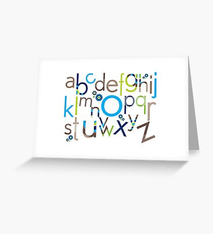 TYPOGRAPHY :: trendy alphabet 6 Greeting Card