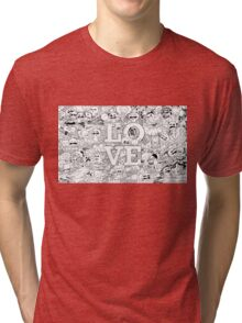 love cartoon  Tri-blend T-Shirt