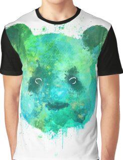 Watercolor Panda Head Painting Graphic T-Shirt