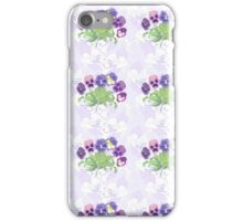 Pattern with Pansies Flowers iPhone Case/Skin