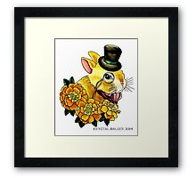 Top Hat Bunny Framed Print