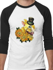 Top Hat Bunny Men's Baseball ¾ T-Shirt