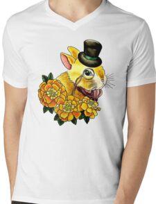 Top Hat Bunny Mens V-Neck T-Shirt