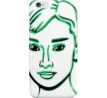 Audrey Hepburn Green iPhone Case/Skin