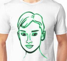 Audrey Hepburn Green Unisex T-Shirt