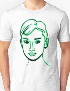 Audrey Hepburn Green T-Shirt