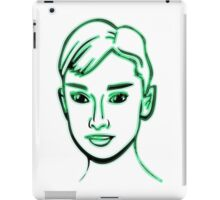 Audrey Hepburn Green iPad Case/Skin