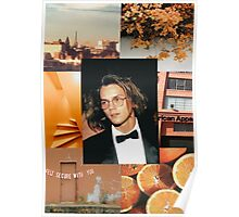 River Phoenix Orange Aesthetic  Poster