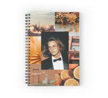 River Phoenix Orange Aesthetic  Spiral Notebook