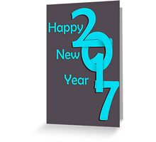 Happy new year 2017 Text Design vector Greeting Card