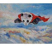 Panda Superhero Photographic Print