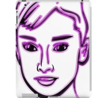 Audrey Hepburn Purple iPad Case/Skin