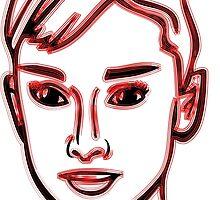 Audrey Hepburn Red by mrmorningglory