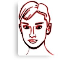 Audrey Hepburn Red Canvas Print