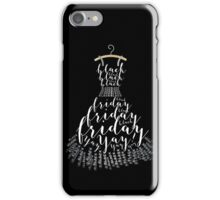 Typographic Little Black Friday Dress iPhone Case/Skin