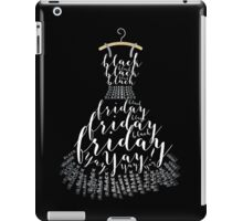 Typographic Little Black Friday Dress iPad Case/Skin