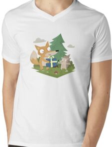 A Gift from a Fox Mens V-Neck T-Shirt