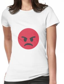 Pouting face Womens Fitted T-Shirt