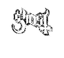GHOST - destroyed black Photographic Print