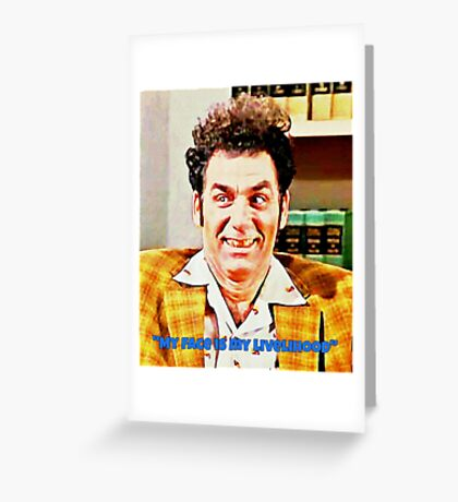 Kramer the Face Greeting Card